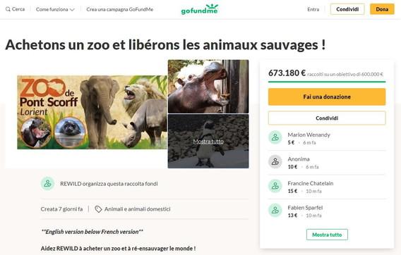 Ong compra uno zoo con una colletta. Ora vuole liberare gli animali