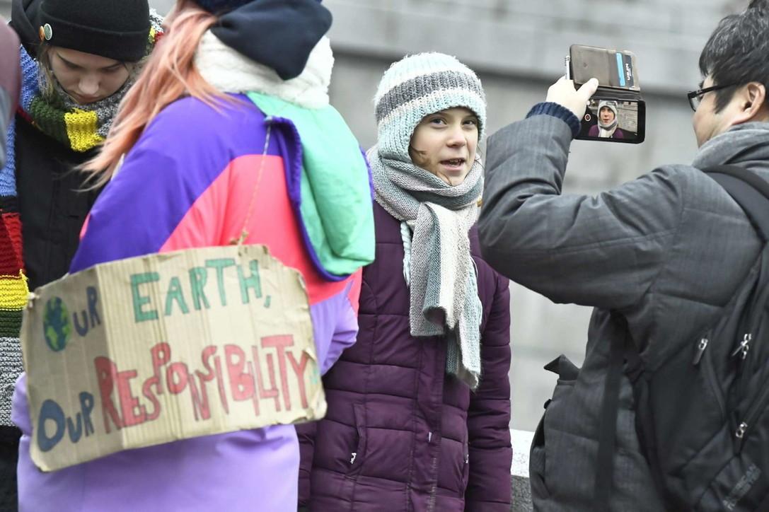 Greta Thunberg festeggia i suoi 17 anni a Stoccolma