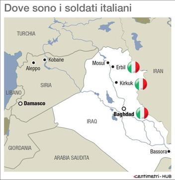Ecco dove sono dislocati gli italiani in Iraq