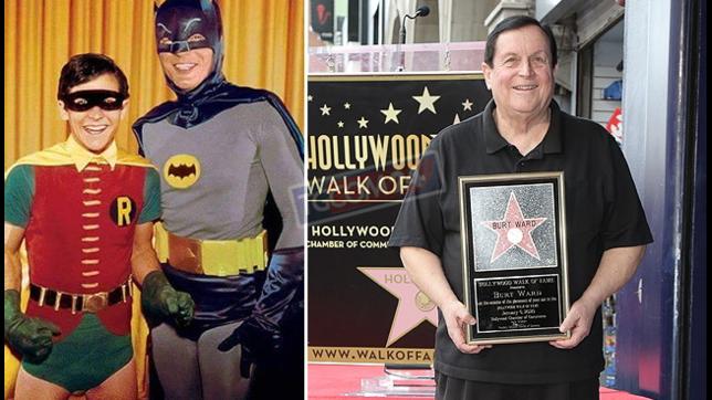 Burt Wardriceve una stella sulla Walk of Fame: guardalo ora e nei panni di Robin