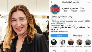 Instagram, hackerato il profilo di Elisabetta Franchi
