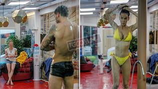 Grande Fratello Vip, docce hot: Licia si gode lo spettacolo di Ivan, Paola si lava in solitaria