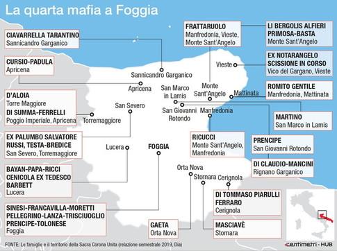 Foggia, le famiglie e il territorio della Sacra Corona Unita