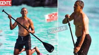 Barack Obama alle Hawaii è sulla cresta dell'onda