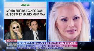 """""""Live - Non è la d'Urso"""", Anna Oxa sul suicidio di Franco Ciani: """"E' molto strano"""""""