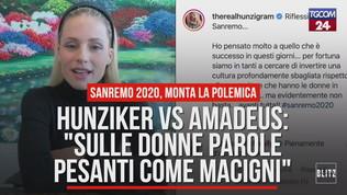 Sanremo 2020, Hunziker vs Amadeus: