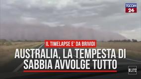 Australia, dopo gli incendi una clamorosa tempesta di sabbia: timelapse da brividi