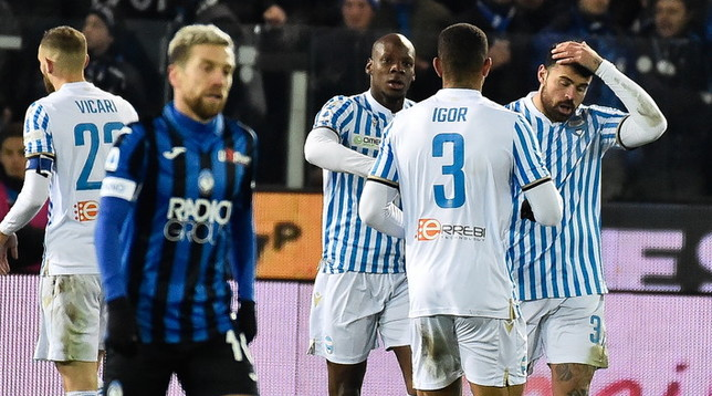 L'Atalanta sbatte sulla Spal: Gasperini perde 2-1 in casa