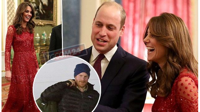 Kate e William se la ridono alla festa sfavillanti