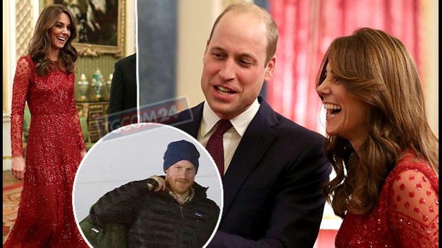Kate e William se la ridono alla festa sfavillanti