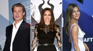 Pitt-Aniston, tutti felici tranne la Jolie: