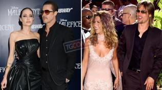 Brad Pitt e le sue due ex