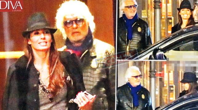 Elisabetta Gregoraci esclusa da Sanremo, esce con Briatore