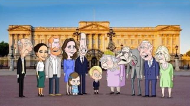 I reali britannici diventano una comedy animata,