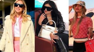 Sottobraccio con Kylie e Taylor: sul jet privato o in treno, le vip sfoggiano borse luxury