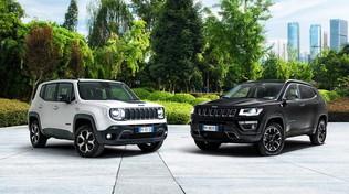 Jeep lancia l'offensiva Hybrid con Renegade e Compass