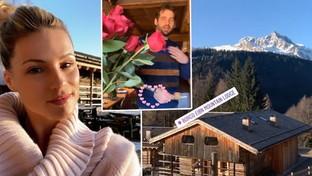 Michelle Hunziker spegne 43 candeline ad alta quota con gli amici