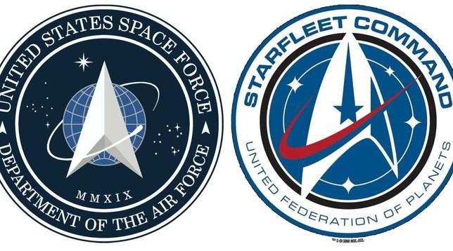Trump presenta il logo della US Space Force, ma è identico a quello di Star Trek