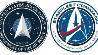"""Usa, il nuovo logo della Space Force scatena l'ironia: """"E' uguale a quello di Star Trek"""""""
