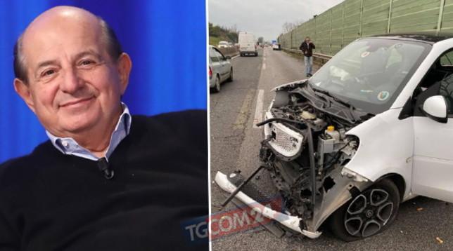 """Schianto in auto per Giancarlo Magalli: """"Incidente brutto, ma non si è fatto male nessuno"""""""