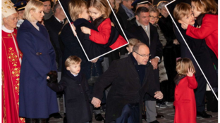 Festa senza sorrisi per Charlene di Monaco con i gemelli