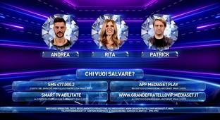 """""""GF Vip, Rita Rusic, Patrick Pugliese e Andrea Montovoli sono in nomination"""