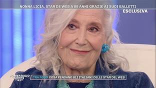 """""""Pomeriggio Cinque"""",a 89 anni Nonna Licia è la star di TikTok: """"Io mi diverto tanto"""""""