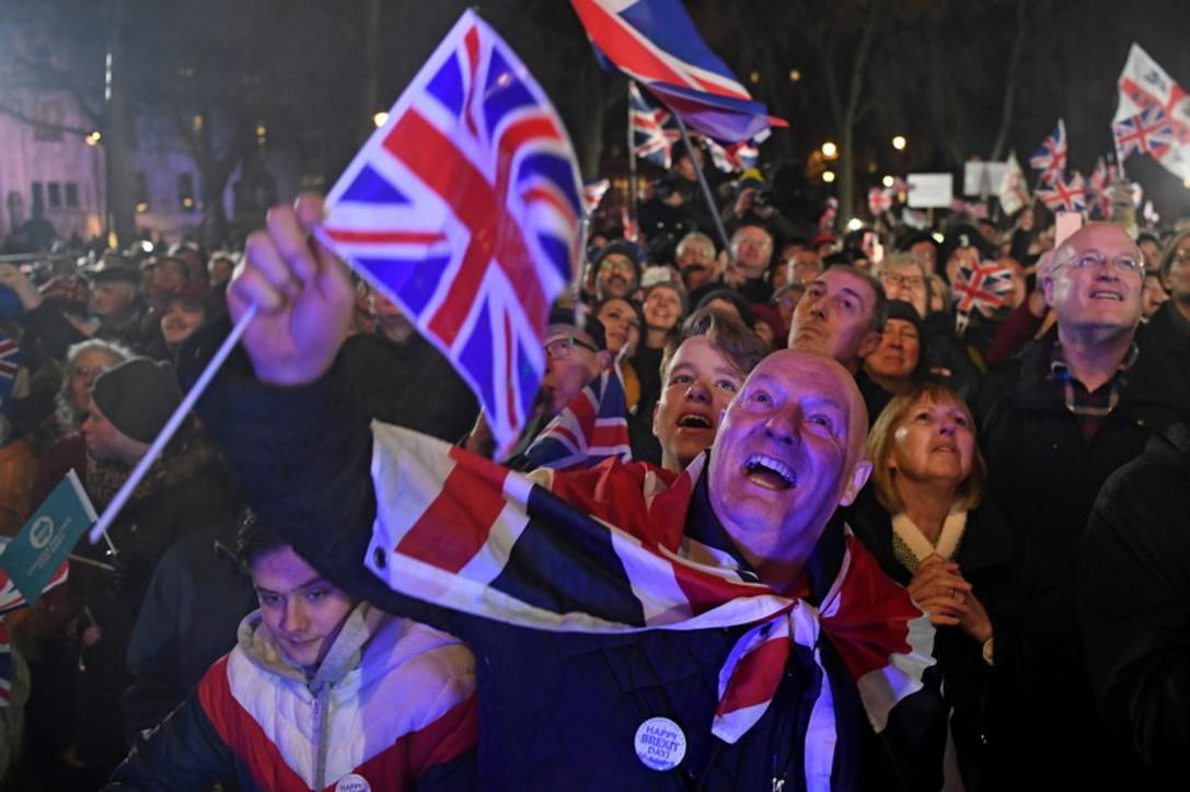 La Brexitè cosa fatta, festa grande nelle strade: guarda le foto
