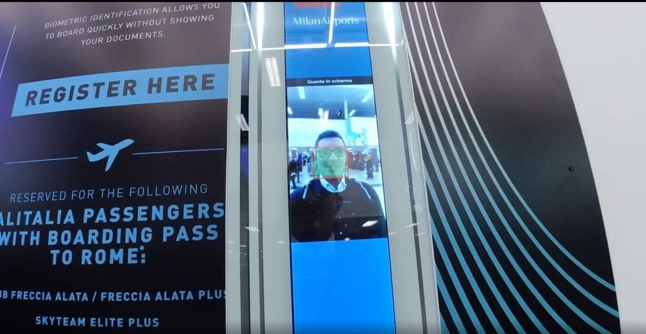 PERICOLO PRIVACY a Linate: controlli e imbarco con riconoscimento facciale. Ecco come ti rubano l`identità