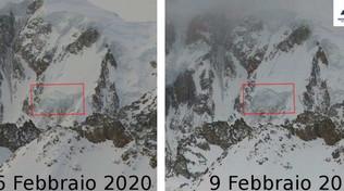 Monte Bianco, crolla il seracco del ghiacciaio del Gendarme Rouge