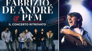 """""""Fabrizio De André e PFM. Il concerto ritrovato"""", guarda gli scatti del backstage e del concerto"""