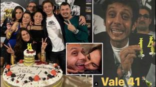 Valentino Rossi, festa di compleanno con Francesca e non solo