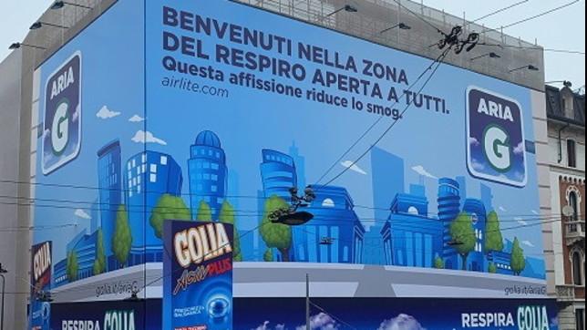 Milano contro il pm10: dopo Area C e Area B, arriva Area... G condue maxiaffissioni in pittura mangia-smog