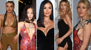 Brit Awards 2020, sideboob, gambe scoperte e décolleté hot: il red carpet è infuocato