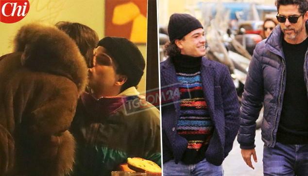 Leo Gassmann bacia la fidanzata e passeggia con papà Alessandro