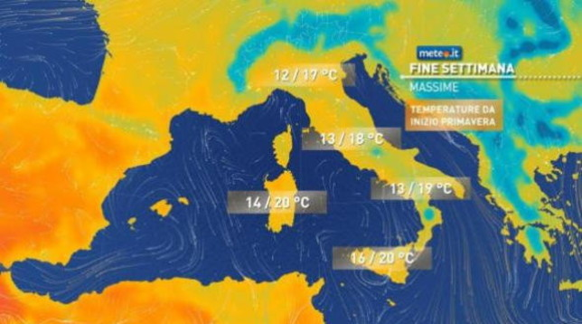 Meteo, weekend primaverile con sole e temperature in aumento