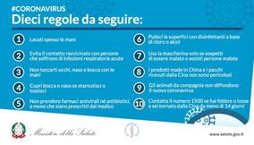 Le dieci regole del ministero della Salute