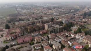 La zona rossa attorno a Codogno