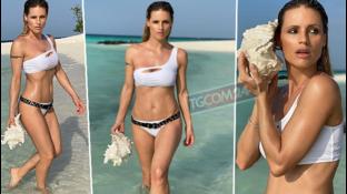 """Michelle Hunziker alle Maldive: """"Sul Coronavirus restiamo compatti"""""""
