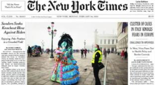 """""""L'Italia combatte contro il coronavirus"""": le prime pagine della stampa estera"""