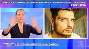 """Favoloso chiama in diretta a """"Pomeriggio Cinque"""": """"Sono a Beirut con Elena Morali, la sto corteggiando"""""""