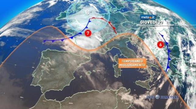 Meteo, piogge in arrivo sulle regioni tirreniche e neve sulle Alpi