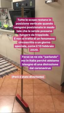"""La """"Broomstick challenge"""" arriva in Italia: l'ironia corre su Twitter"""