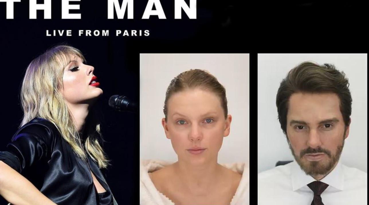 Taylor Swift si trasforma in un... uomo: guarda come
