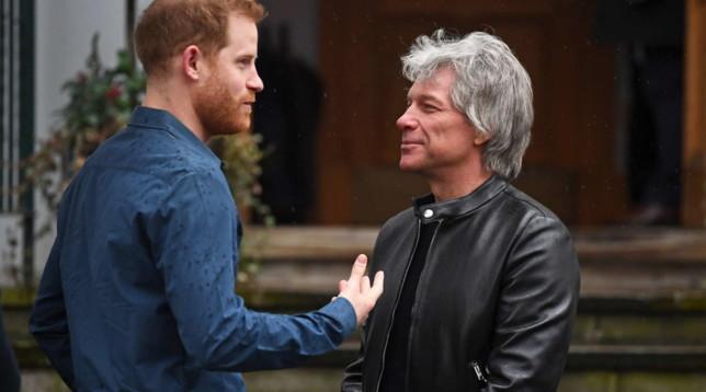 Harry cantante provetto con Jon Bon Jovi