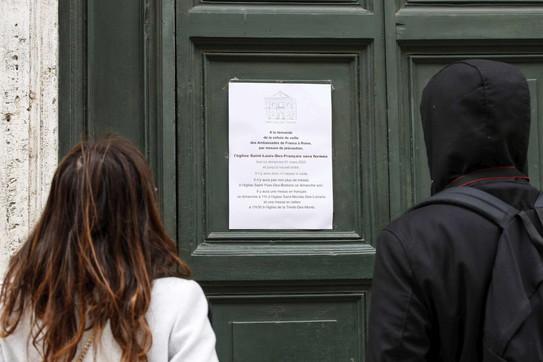 Roma, chiusa la chiesa San Luigi dei francesi
