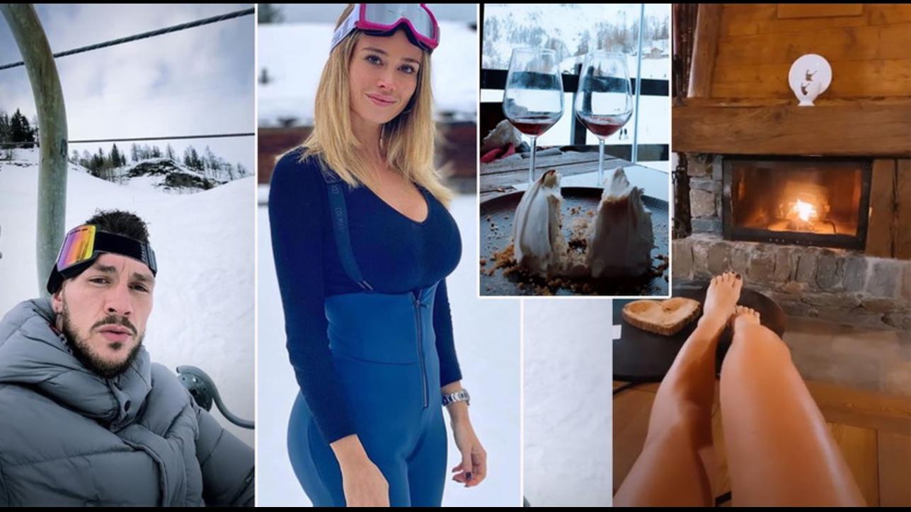 Diletta Leotta surriscalda pure la neve, eccola in montagna con Daniele Scardina