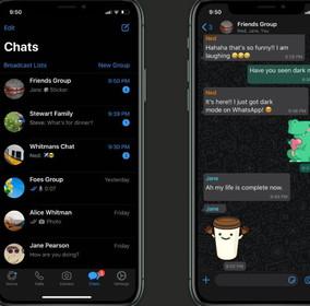 """Whatsappintroduce la modalità """"dark mode"""" per chattare senza fatica anche di notte"""