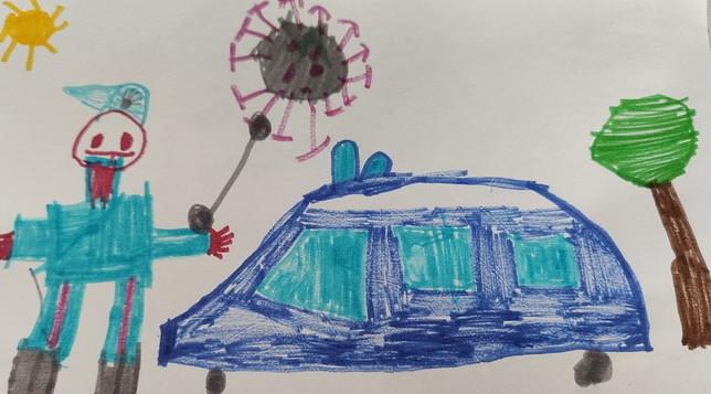 """""""Carabinieri, arrestate il coronavirus: voglio tornare a giocare"""", ai varchi della zona rossa il disegno di un bambino"""