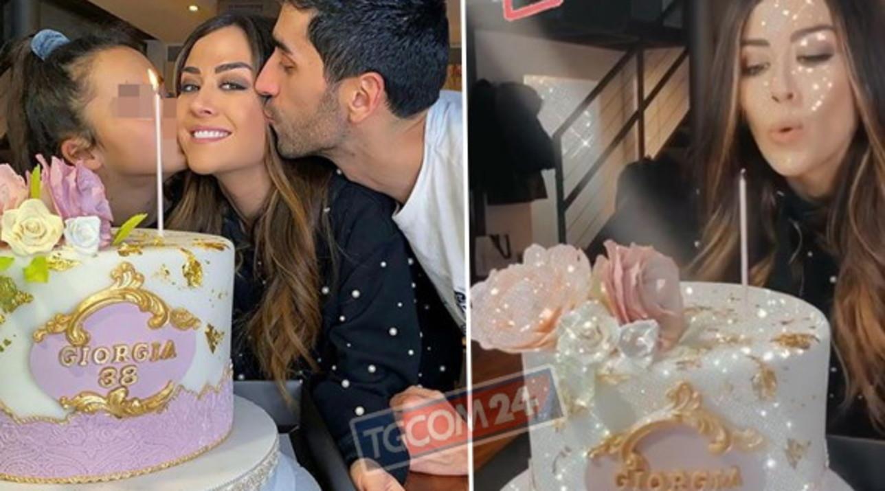 Giorgia Palmas, compleanno in casa con i suoi due amori